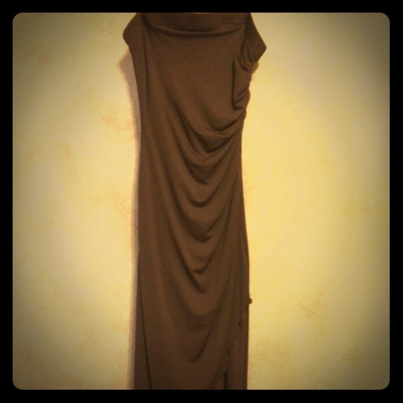 Aldo Dresses & Skirts - Aldo chocolate brown strapless fitted dress